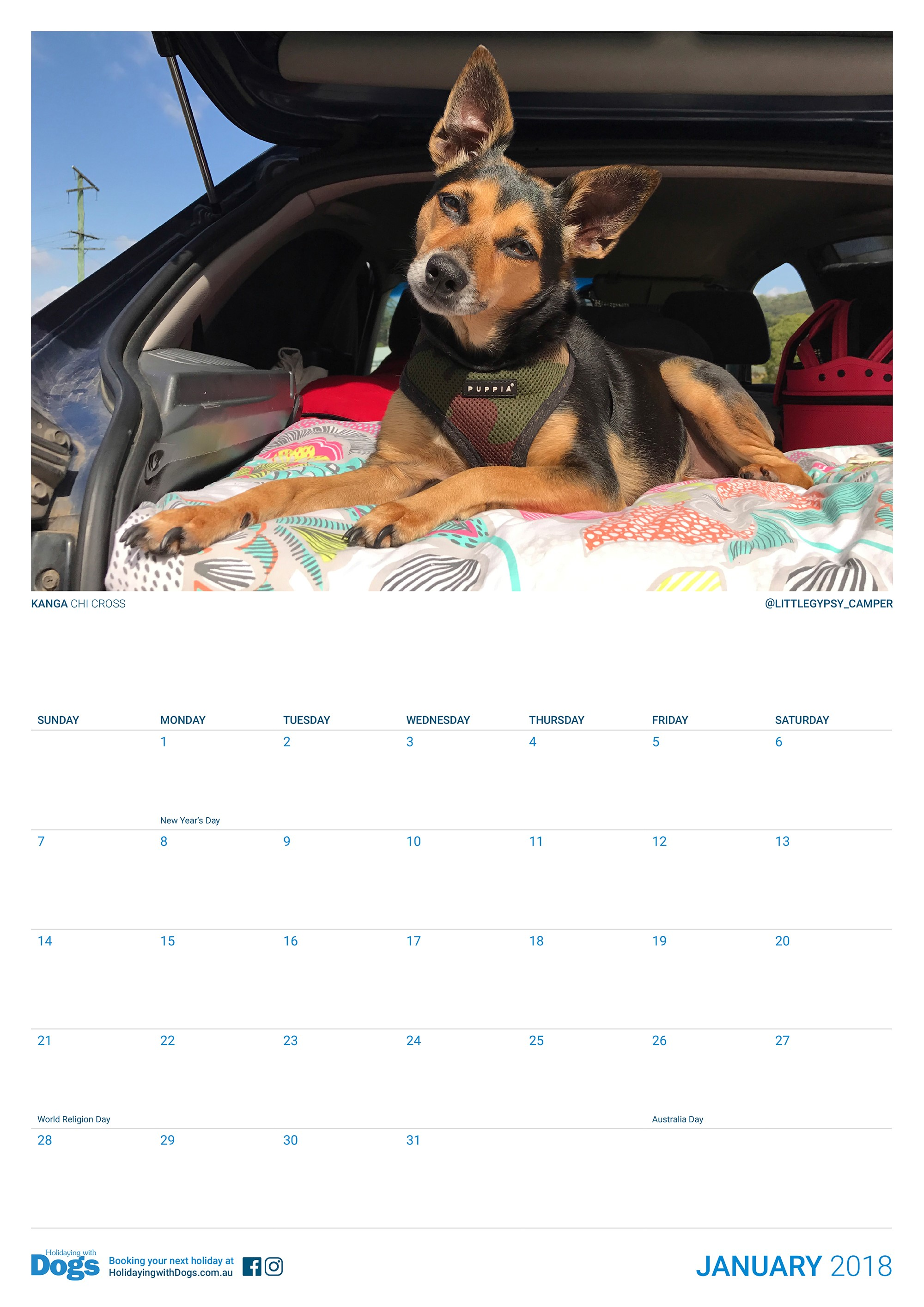 HWD calendar january